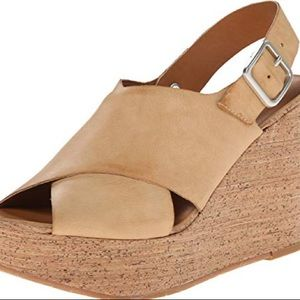 BC Wedge Crossover Sandal Vegan Leather